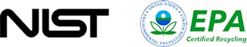Partner accreditations - NIST, EPA Certified Recycling
